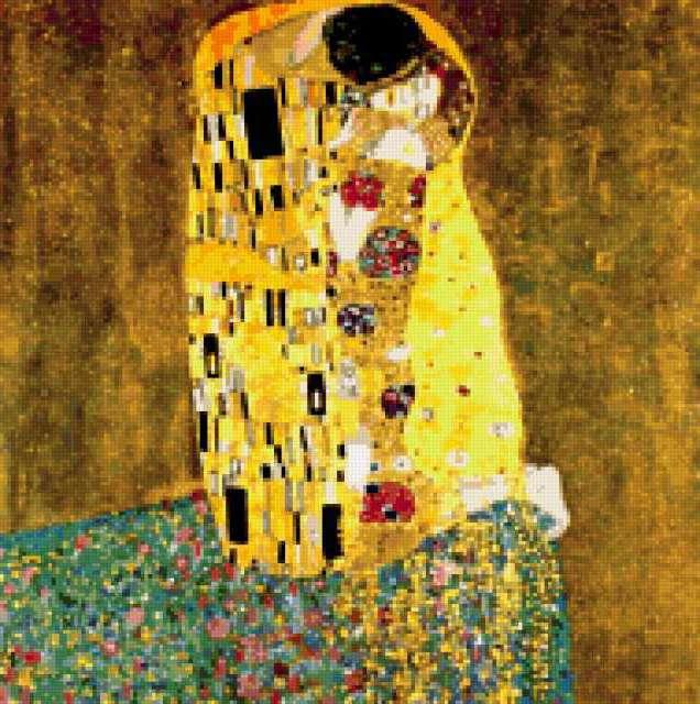 Схема вышивки климт поцелуй фото 144