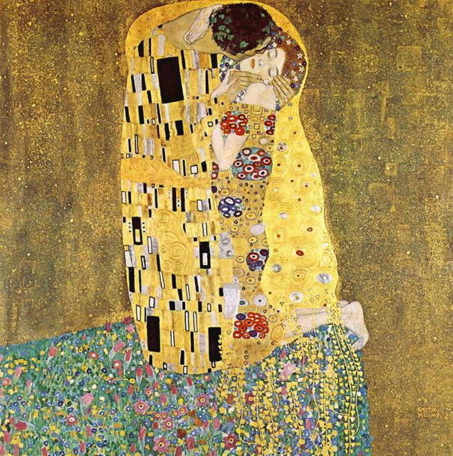 Климт, Поцелуй, оригинал