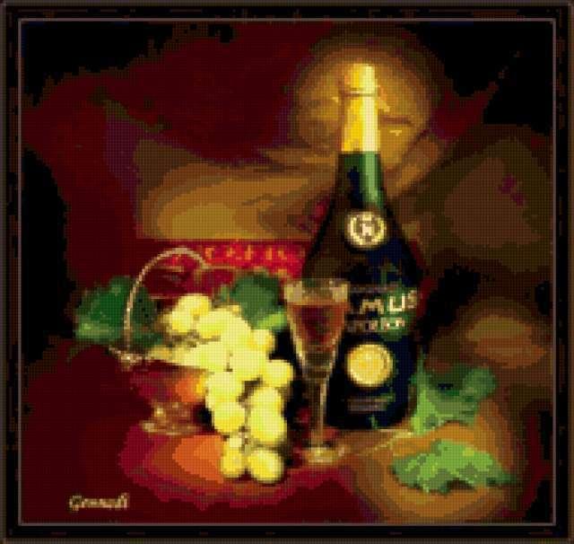 Схема вышивки шампанского