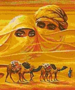 Вышивка крестом схемы верблюда