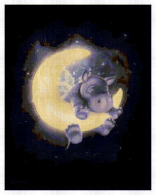 Бегемотик на луне