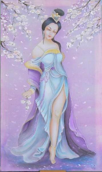 Девушка-Весна, восток, картина