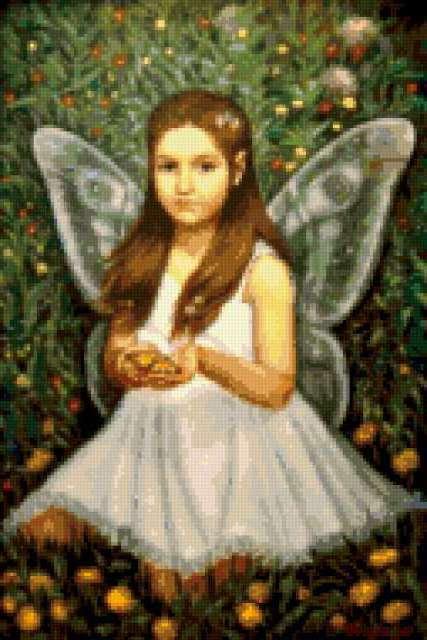 Девочка-бабочка, предпросмотр