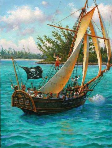 Don Maitz | Пираты., живопись,