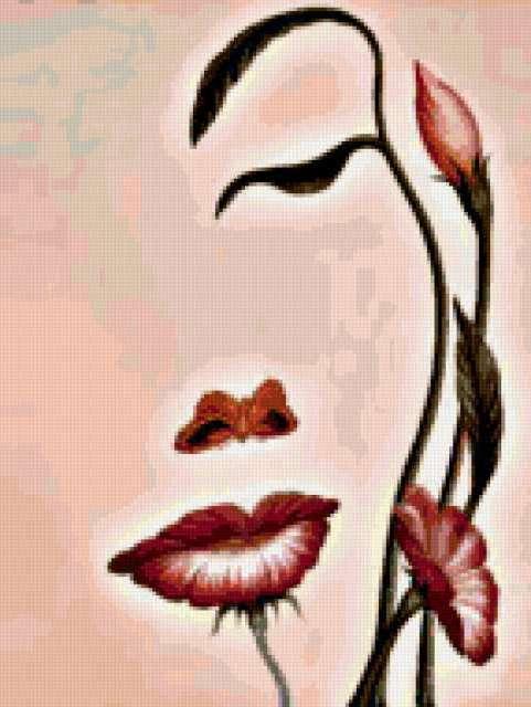 Лицо из цветов, предпросмотр