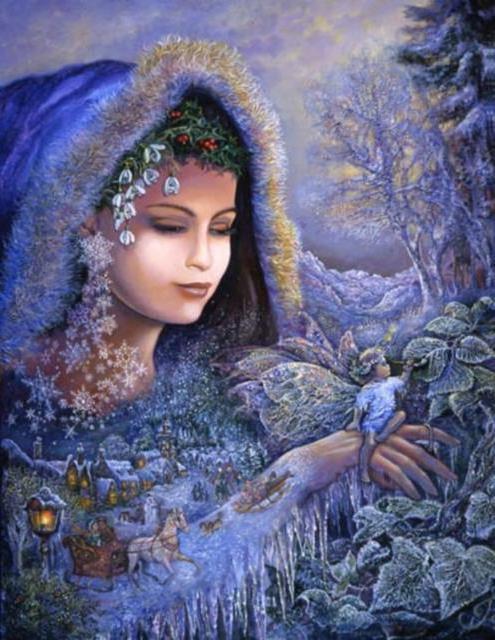 Схема вышивки «Зимняя фея»