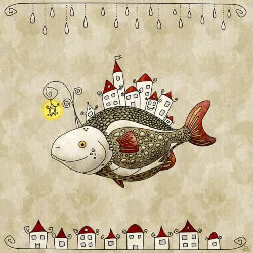 Схема вышивки рыб.
