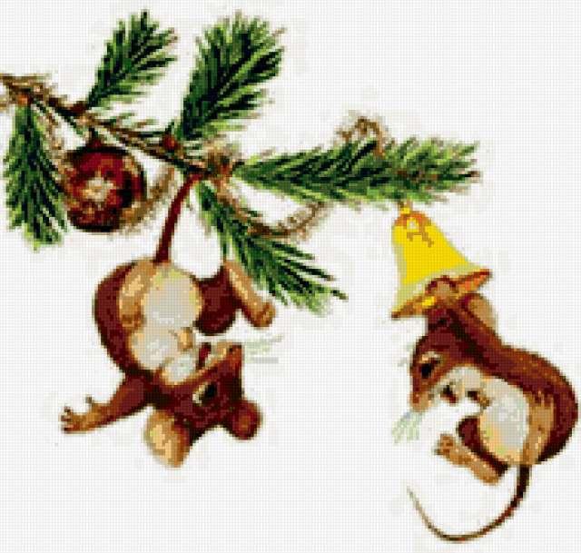 Мышата на елке, предпросмотр