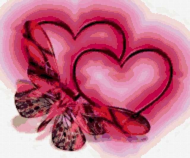 Бабочка и сердца, предпросмотр