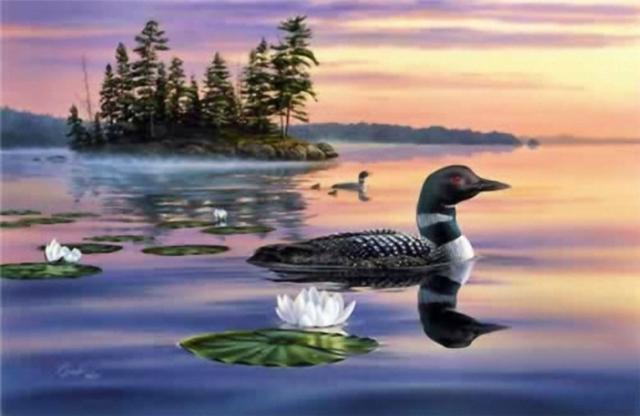 Утки на озере, оригинал