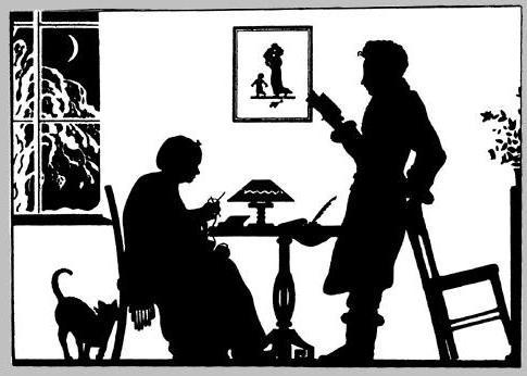 А.С.Пушкин с няней, няня, поэт, пушкин, картина, рисунок