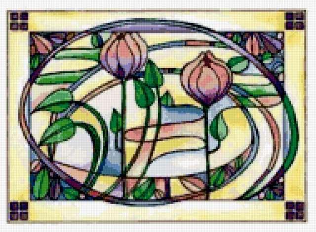 """Мозайка """"Тюльпаны"""", цветы"""