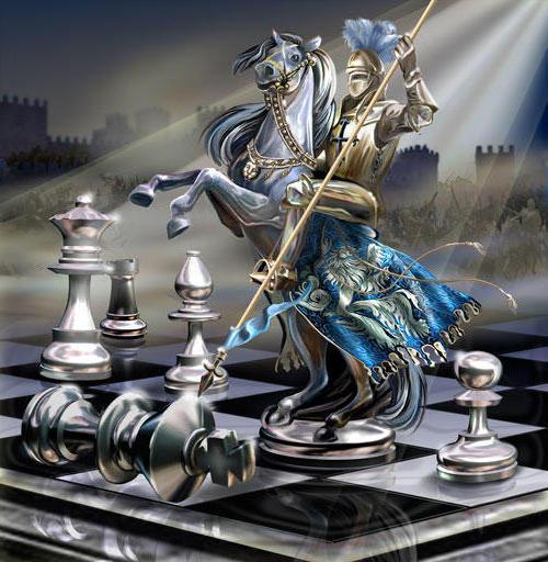 Шахматный рыцарь, оригинал