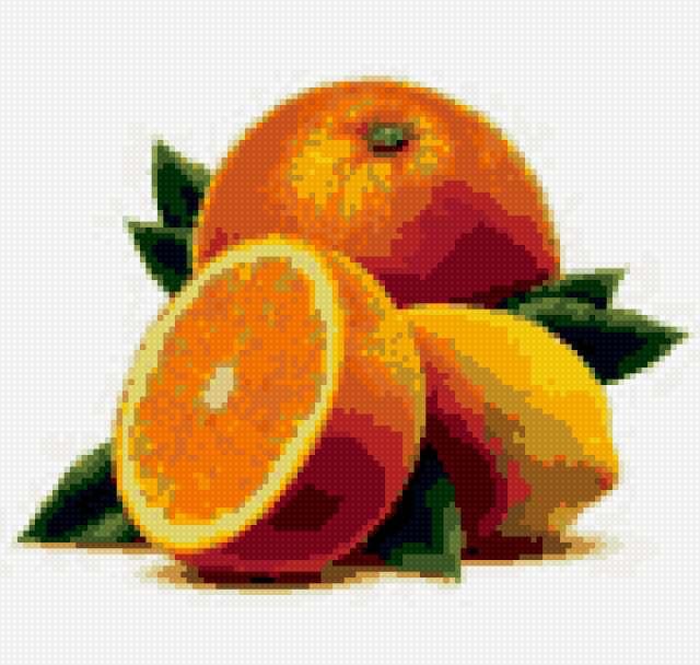 Апельсин + лимон, фрукты