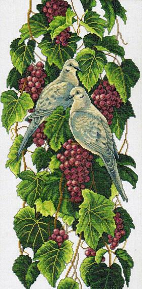 Птицы и виноград, птицы,