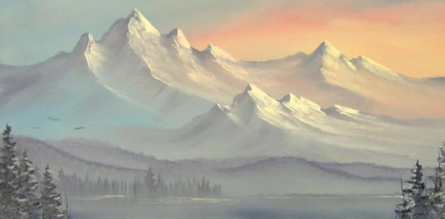 Восход в горах, оригинал