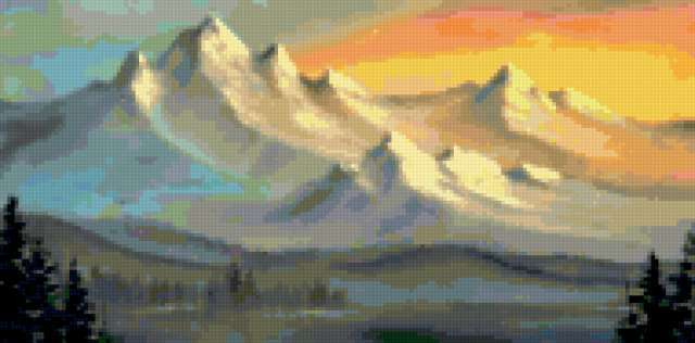 Восход в горах, предпросмотр