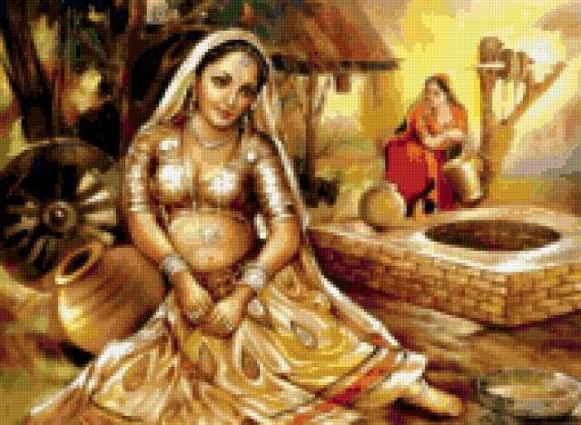 Индия, индия, девушка, кувшин