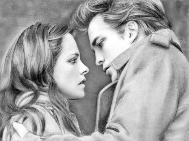 Он и она, рисунок, любовь