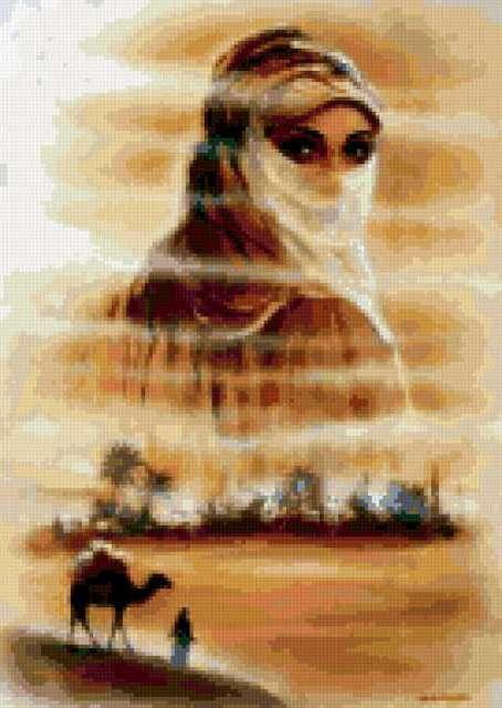Девушка, пустыня, предпросмотр