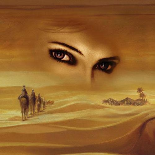 Взгляд, пустыня, оригинал