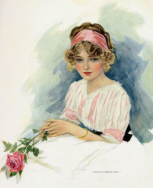 Девушка с розой, женщина,