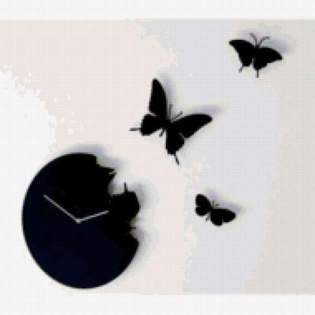 Бабочки и часы, предпросмотр