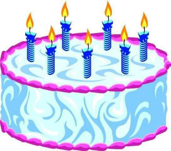 Торт со свечами, оригинал
