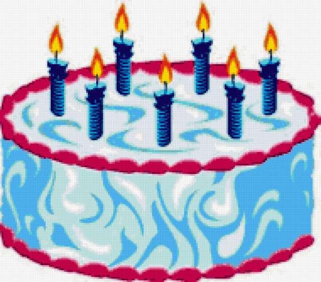 Торт со свечами, предпросмотр