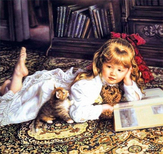 За чтением книги..., оригинал