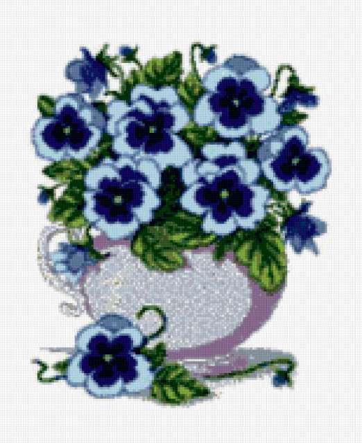 Цветы в горшке, цветы,