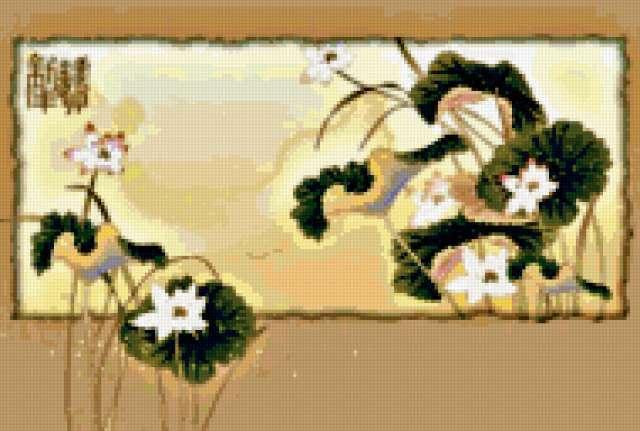 """Серия """"Японские мотивы"""" Цветы,"""