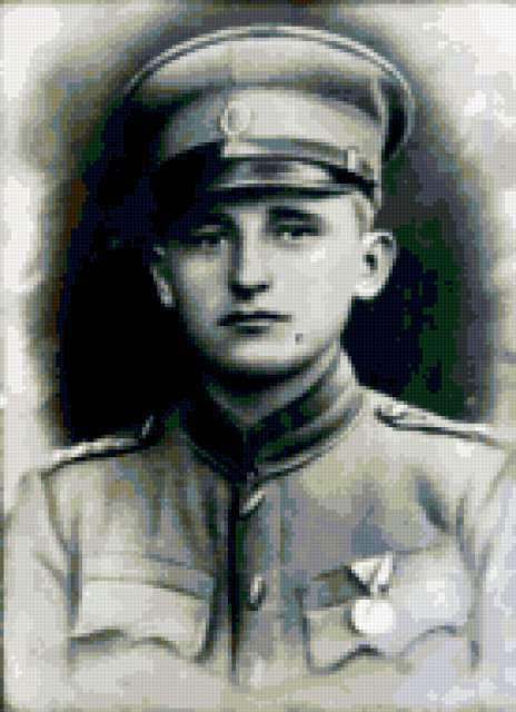 портрет, ретро, солдат
