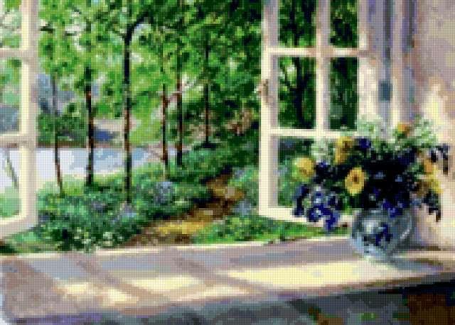 Пейзаж за окном, предпросмотр