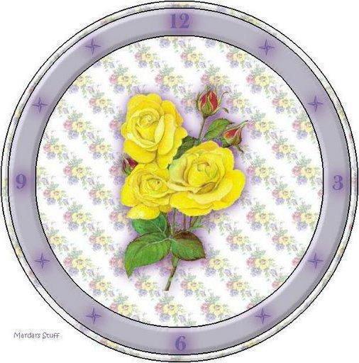 Часы желтые розы, оригинал