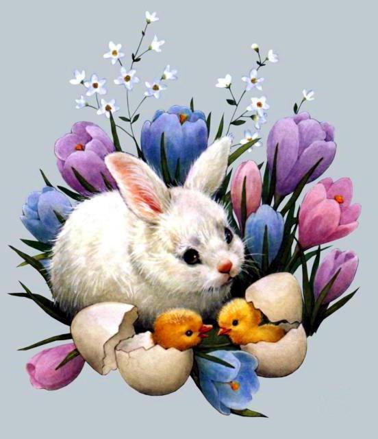 Пасхальный кролик, оригинал