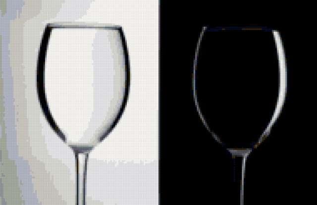 Чёрно-белые бокалы,