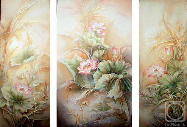 Триптих с цветами, триптих,