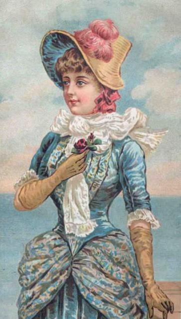 Викторианская дама, оригинал