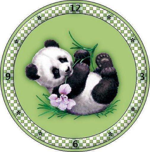 Часы-панда, панда, животные,