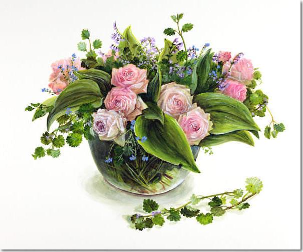 Фуджико,розовые розы, оригинал
