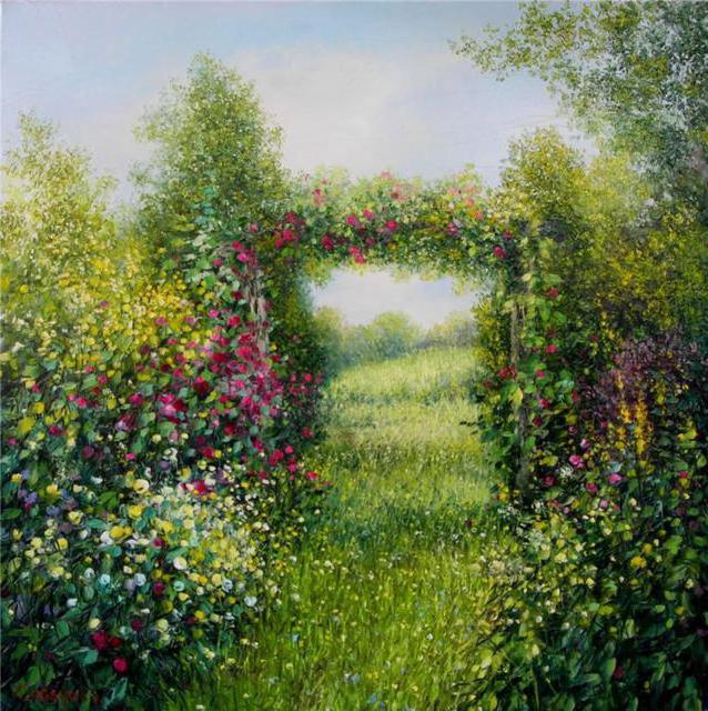 Цветочная арка, цветы, арка