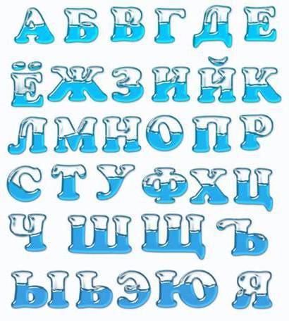 Русский алфавит, оригинал