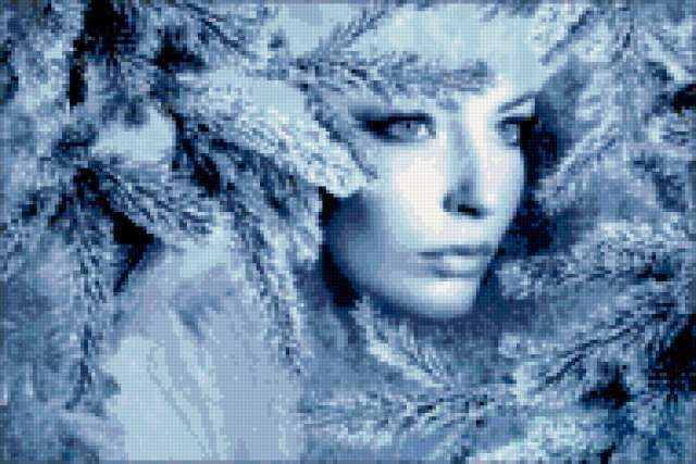 Девушка зима, предпросмотр