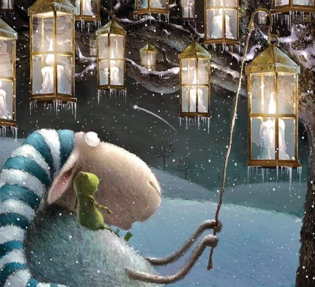 Овца с фонариками, оригинал