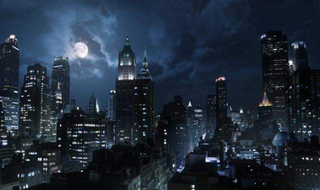Ночной город, живопись