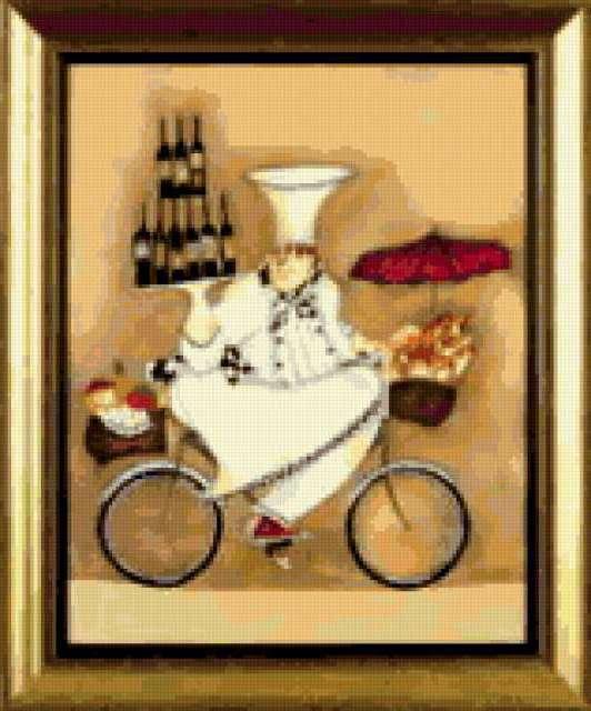 Повар на велосипеде, кафе и