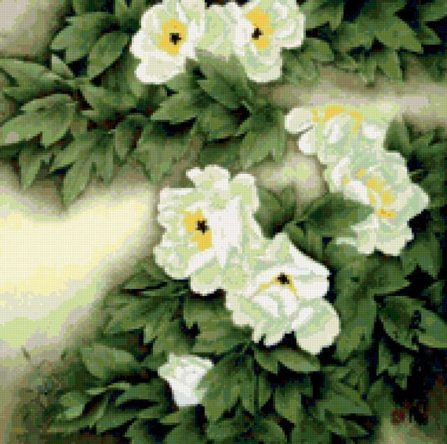 Подушка белые цветы