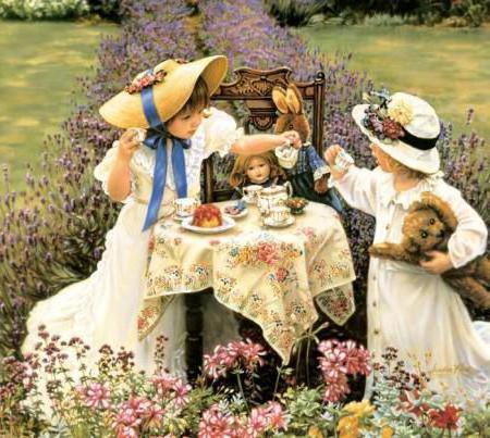 Чаепитие, дети девочка