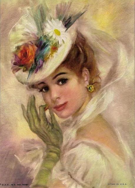 Схемы вышивки портретов женских